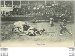 Espagne. SAN SEBASTIAN. Una Caida Corrida Toro 1908 - Guipúzcoa (San Sebastián)