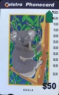 AUSTRALIE  -  Telstra Phonecard  -  Koala  -   $ 50 - Australia