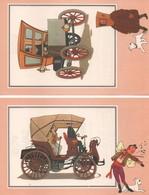 LOT DE 6 CHROMOS TINTIN DE LA COLLECTION VOIR ET SAVOIR L'AUTOMOBILE DES ORIGINE A 1900 SERIE 3 - Chromos