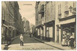 Riom - L'auvergne - Puy De Dôme - Rue De L'Hôtel De Ville - 1192 - Animation - Ecrite - Riom