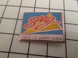2117 Pin's Pins / Beau Et Rare / THEME : VILLES / SMJ VILLE DE SAINT-OUEN - Villes