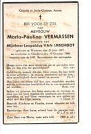 Bidprentje - Vermassen - Van Imschoot - Wetteren - Charleroi - Religion &  Esoterik