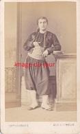 PHOTO ANCIENNE CDV COGNACQ A LA ROCHELLE  BEAU PORTRAIT MILITAIRE ZOUAVE - Ancianas (antes De 1900)