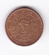 2010 EURO 0,01 - Autriche