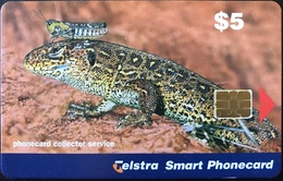 AUSTRALIE  -  Telstra Telecom  -  Cricket And Lizard  -  $ 5 - Australië
