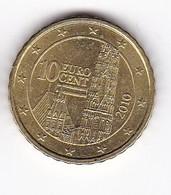 2010 EURO 0,10 - Autriche