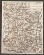 CARTE PLAN 1927 - RÉGION TARARE VILLEFRANCHE LAMURE MONSOLS - ROUTES D'EXCURSIONS CHEMINS De TOURISTES - Topographical Maps