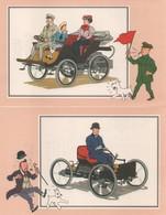 OT DE 6 CHROMOS TINTIN DE LA COLLECTION VOIR ET SAVOIR L'AUTOMOBILE DES ORIGINE A 1900 SERIE 2 - Chromos