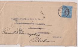 HONG KONG Obl NINGFO 4 X 1906  Au Verso Obl SHANGHAI  Vers Bruxelles Puis Redirigée Vers MALINES - Hong Kong (...-1997)