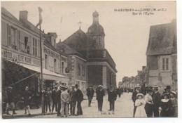 49 St-GEORGES-sur-LOIRE  Rue De L'Eglise (très Animée) - Saint Georges Sur Loire