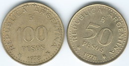 Argentina - 1978 - 50 & 100 Pesos - 200th Anniversary Of General Jose De San Martin (KMs 81 & 82) - Argentina
