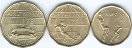 Argentina - 1977 - World Cup - 20 (1977), 50 (1978) & 100 Pesos (1977) - (KMs 75-77) - Argentina