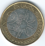Argentina - 2 Pesos - 2016 - Bicentenary Of Declaration Of Independence - KM184 - Argentina