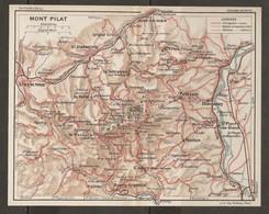 CARTE PLAN 1927 - MONT PILAT PLANFOY LA VALLA LA TERRASSE PÉLUSSIN MACLAS CHAVANAY GRAND'CROIX - Topographical Maps