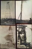 4 PHOTOS, Puits De Pétrole (Algérie? Afrique Du Nord?), Avril 1924 (Nom Au Verso Mr Kaier Ou Raier) - Africa