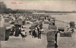 ! Alte Ansichtskarte Zoppot, Strandkörbe, 1916 - Danzig