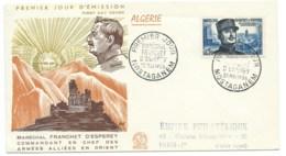 ENVELOPPE FDC / 1956 / MARECHAL FRANCHET D'ESPEREY MOSTAGANEM - Storia Postale