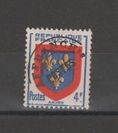 FRANCE /1949 / Y&T Préo N° 105 ** : Armoiries De L'Anjou Surchargé X 1 - Préoblitérés