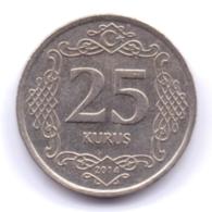 TURKEY 2014: 25 Kurus, KM 1242 - Turchia