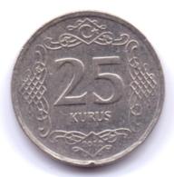 TURKEY 2012: 25 Kurus, KM 1242 - Turchia