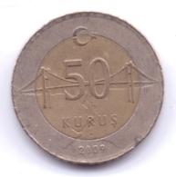 TURKEY 2009: 50 Kurus, KM 1243 - Turchia