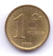 TURKEY 2005: 1 Yeni Kurus, KM 1164 - Turchia