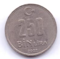 TURKEY 2002: 250 Bin Lira, KM 1137 - Turchia