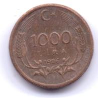 TURKEY 1996: 1000 Lira, KM 1028 - Turchia