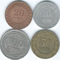 Armenia - 2004 - 10 Dram (KM112) 20 Dram - 2003 (KM93) 50 Dram - 2003 (KM94) & 100 Dram - 2003 (KM95) - Arménie