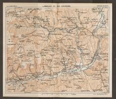 CARTE PLAN 1927 - RÉGION De LAMALOU Et De Ses ENVIRONS - Topographical Maps