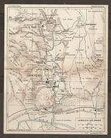 CARTE PLAN 1927 - LAMALOU Les BAINS - LE VIEUX LE HAUT LE CENTRE LE BAS THERMES CASINO MÉTAIRIE TRÉBOULINE VILLAS - Topographical Maps