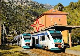 FONTAN SAORGE. Croisement De Deux Trains Italiens. - Other Municipalities