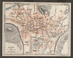 CARTE PLAN 1927 - LE PUY - CASERNES SOURDS MUETS PRISON GENDARMERIE CAISSE D'ÉPARGNE - Topographical Maps