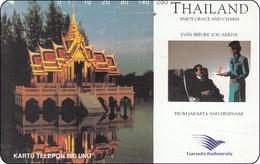 Indonesien Phonecard Tamura Garuda Indonesia Airline Tempel - Indonesië