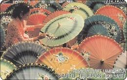 Indonesien Phonecard Tamura Thailand Handcraft Umbrella - Indonesië