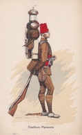 TIRAILLEUR MAROCAIN N°70 Illustrateur Edmond LAJOUX (1890-1960) - Uniformen