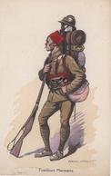 TIRAILLEUR MAROCAIN N°69 Illustrateur Edmond LAJOUX (1890-1960) - Uniformen