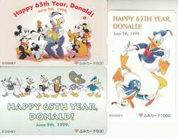 Japan Phonecard Tamura Happy 65th Year, Donald - Disney - Disney