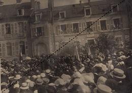 Grande Photo Militaire à Hennebont Bretagne Inauguration Monument De La Grande Guerre Lieutenant Colonel Curie 62è - Guerre, Militaire