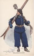 ECLAIREUR-SKIEUR Illustrateur Edmond LAJOUX (1890-1960) - Uniformen