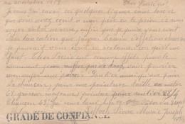 GRADE DE CONFIANCE Sur Carte Franchise Demande De Secours Camp De Munster Prisonniers Guerre Kriegsgefangenensendung - Guerre De 1914-18