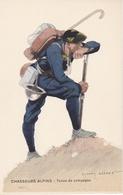 CHASSEURS ALPINS Illustrateur Edmond LAJOUX (1890-1960) - Uniformen