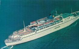 CARTE POSTALE PHOTO ORIGINALE 09CM/16CM : ON BOARD MTS OCEANOS EPIROTIKI LINE A SOMBRE EN MER EN 1991 AVEC SON CAPITAINE - Steamers