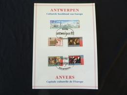 "BELG.1993 2495 Filatelic Card : ""Antwerpen Culturele Hoofdstad/ Capitale Culturelle D'Anvers"" - FDC"