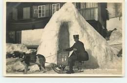 BERNE - Gstaad Im Winter - Postdienst - Facteur Sur Une Luge Tirée Par Un Chien - BE Berne