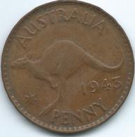 Australia - George VI - 1943 - 1 Penny - KM36 - Perth Mint - Sterling Coinage (1910-1965)