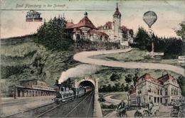 ! Alte Ansichtskarte Bad Flinsberg In Der Zukunft, Swieradow-Zdroj In The Future, Niederschlesien, 1907, Polen - Polonia