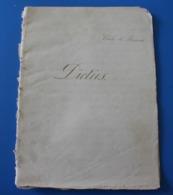 MONIEUX 84-- DICTÉES 1875 St Joseph-Manuscrit Document Historique--Cahier D'école De -Cécile De Bernardi... - Other Collections
