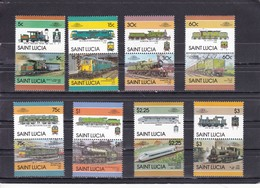 Saint Lucia 1986 (Mi 814-829) Trains . MNH** - Treni