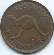 Australia - George VI - 1949 - 1 Penny - KM43 - Sterling Coinage (1910-1965)
